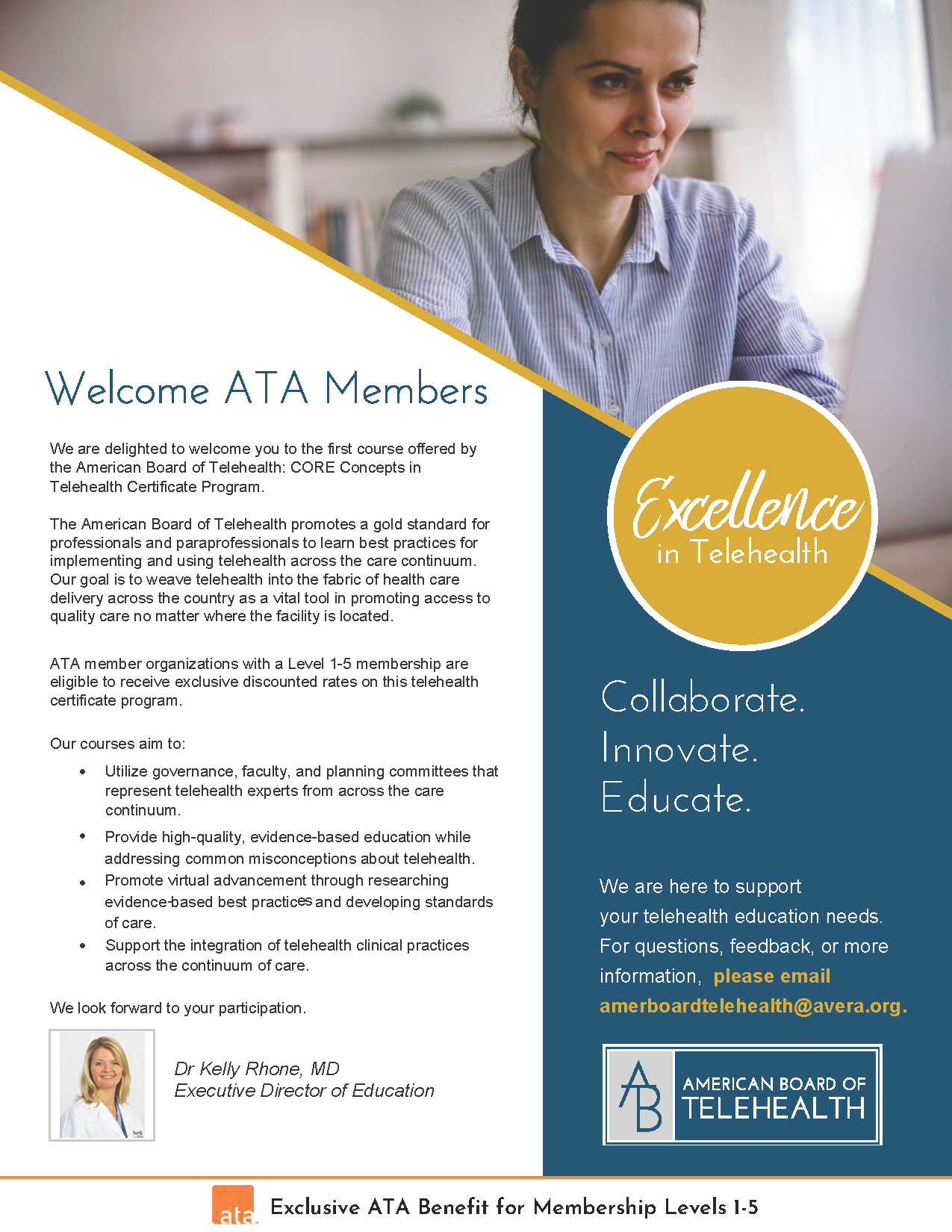Welcome ATA Members_ABT CORE Concepts in Telehealth Certificate Program_Page_1